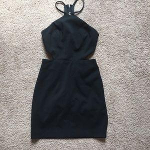 Forever 21 cutout black mini dress